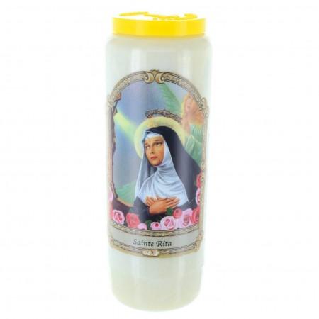 Saint Rita novena candle 17.5 cm