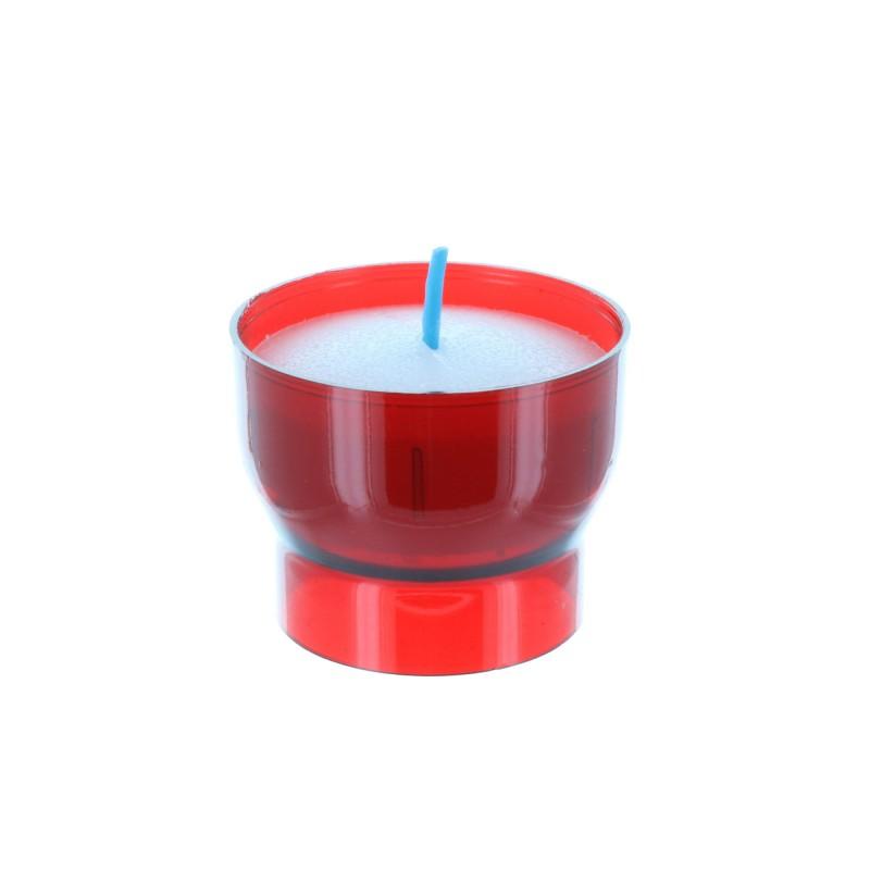 Lot de 2 bougie Votive rouge 4 cm