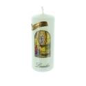 Bougie religieuse cylindrique Apparition de Lourdes 10 cm