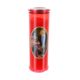 Our Lady Apparition red votive candle 19 cm