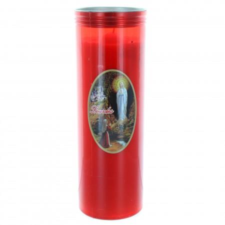Lumino Votivo rosso di Lourdes 24 cm