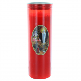 Lourdes red votive candle 24 cm