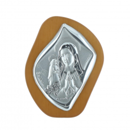 Our Lady and Saint Bernadette silver coloured religious picture frame 5 x 6.5 cm
