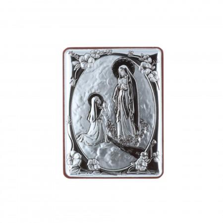 Chevalet religieux de Lourdes argenté 5 x 6,5 cm