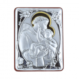 Saint Anthony silver coloured religious picture frame 5 x 7 cm