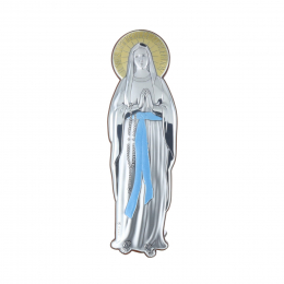 Immaculate Conception silvery gold cut religious frame 7.5 x 25 cm