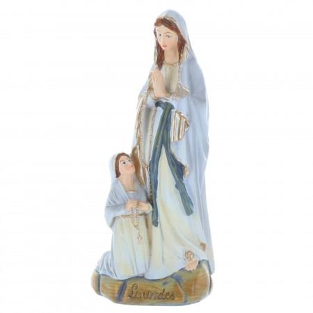 Statua Apparizione di Lourdes in resina stile antico 13 cm