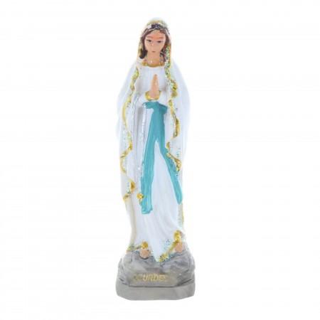 Statua Madonna in resina glitterata 10 cm