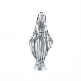 Our Lady of Grace pocket metal statue 5.5 cm