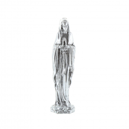 Our Lady of Lourdes pocket metal statue 5.5 cm