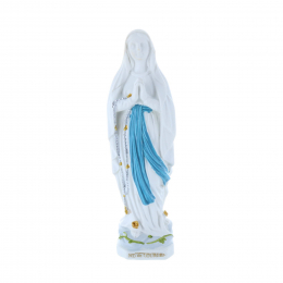 Our Lady of Lourdes refined resin statue 14 cm
