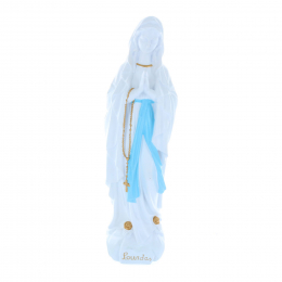 Our Lady of Lourdes refined resin exterior statue 40 cm