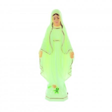 Statua Madonna Miracolosa luminosa in resina 18 cm
