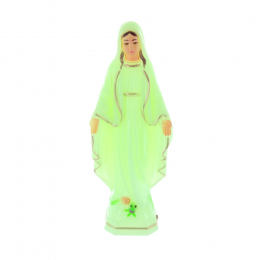 Our Lady of Grace glow-in-the-dark resin statue 18 cm