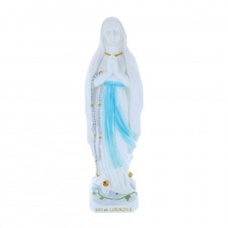 Statue Vierge Marie épurée en résine 30 cm