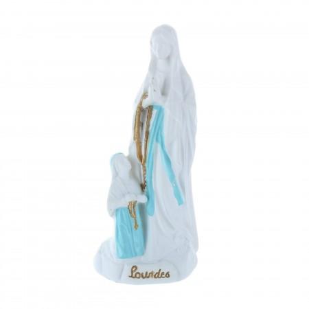 Statua Apparizione di Lourdes in resina purificata 12 cm