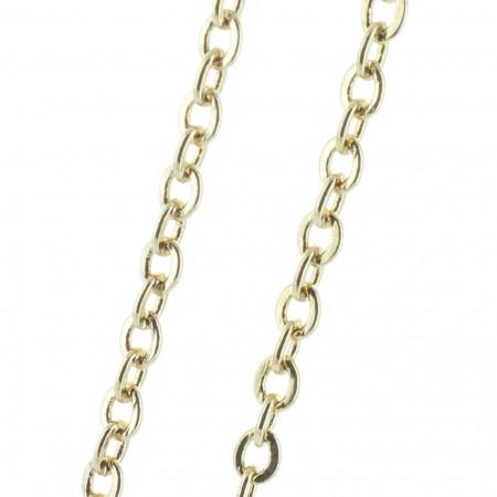 Gold metal chain 50 cm, forçat-link