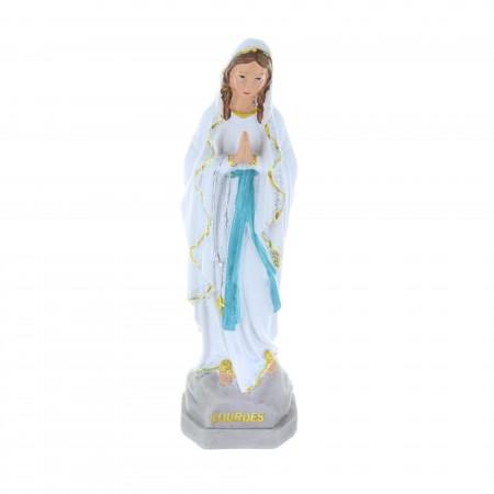 Statua Madonna in resina glitterata 20 cm