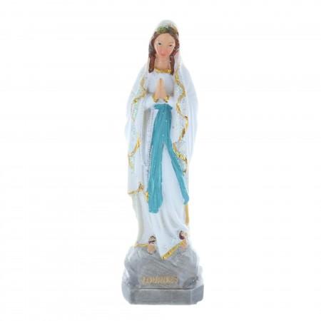 Statue Vierge Marie en résine pailletée 15 cm