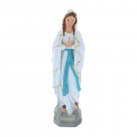 Statue Vierge Marie en résine pailletée 30 cm