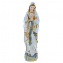 Our Lady of Lourdes resin statue, antique style 10 cm