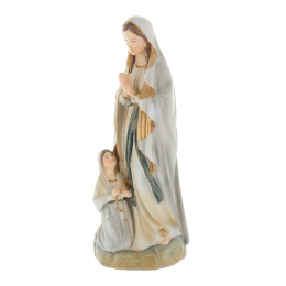 Lourdes Apparition resin statue, antique style 20 cm