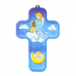 Guardian Angel religious colour cross 13.5 cm