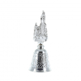 Lourdes Apparition silvery metal bell