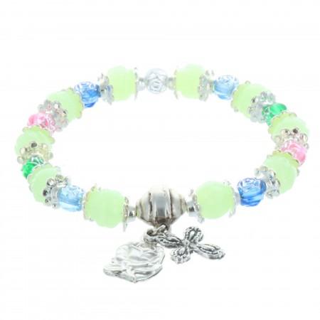 Bracelet dizainier grains lumineux et Apparition de Lourdes