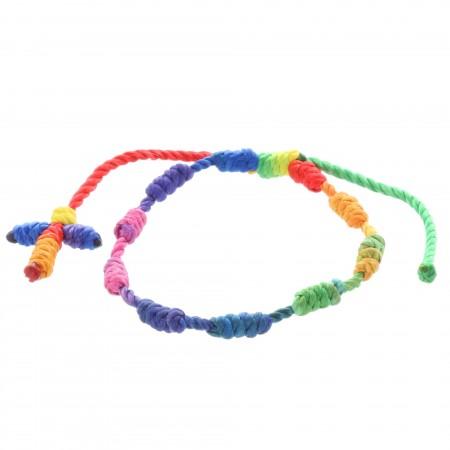 Braccialetto decina corda multicolore