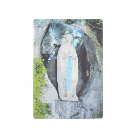 Partita di 2 cartoline bidimensionali di Nostra Signora di Lourdes