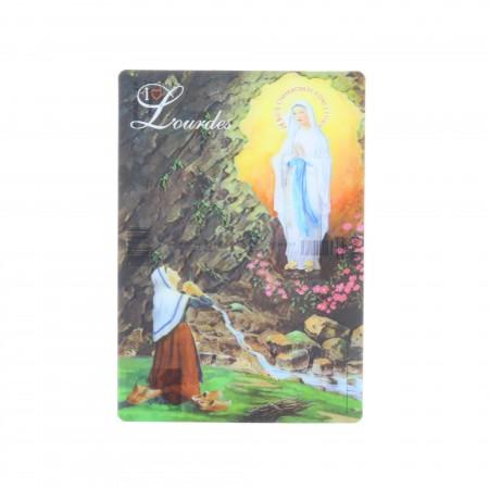 Lot de 2 cartes postales 3D de l'Apparition de Lourdes