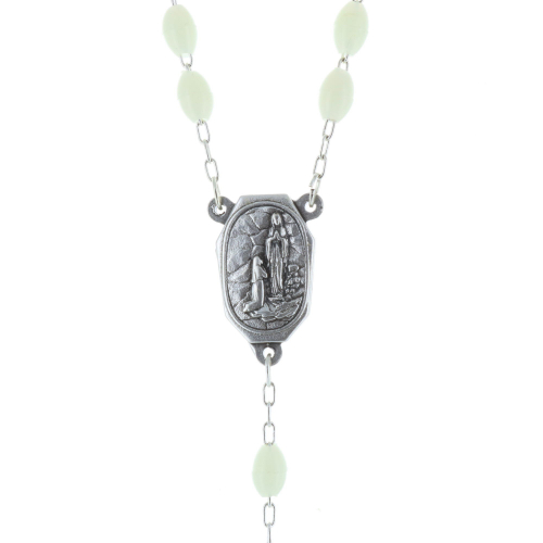 Lourdes water rosary glowing beads