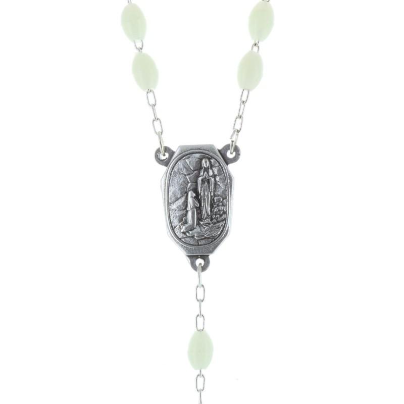 Chapelet avec eau de Lourdes et grains lumineux