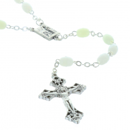 Glow-in-the-dark rosary Lourdes Apparition centerpiece