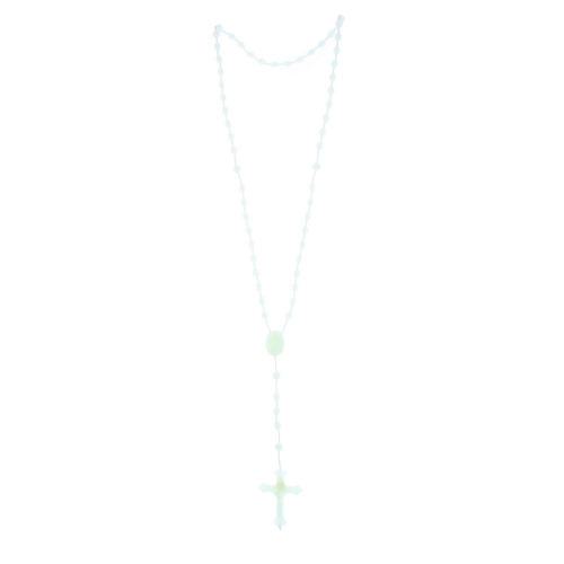 Batch of 5 plastic glow-in-the-dark rosaries