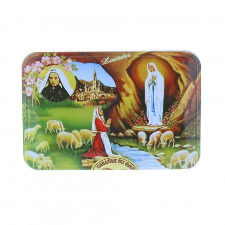 Caramelle sassi del Gave alla frutta 250 g e scatola di zucchero di Lourdes