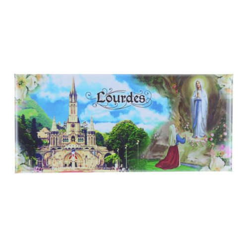 Apparition and Basilica of Lourdes rectangular magnet