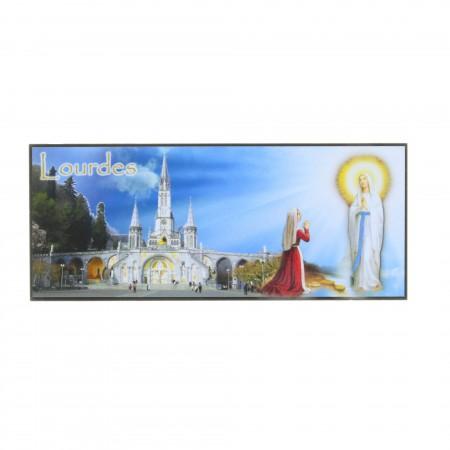 Magnet rettangolare Apparizione, Basilica e Grotta di Lourdes