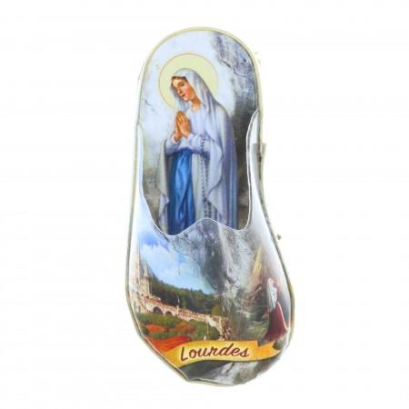 Magnet en forme de pantoufle, Vierge Marie et Basilique de Lourdes
