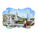 Apparition silhouette and Basilica of Lourdes magnet
