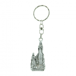 Silhouette key-ring, Lourdes Apparition