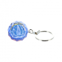 Key-ring sphere with reflections and etched Lourdes Apparition