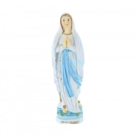 Statua Madonna in resina colorata 14 cm