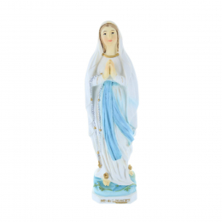 Statue Vierge Marie en résine colorée 14 cm