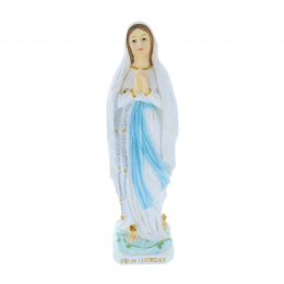 Our Lady of Lourdes colour resin statue 30 cm