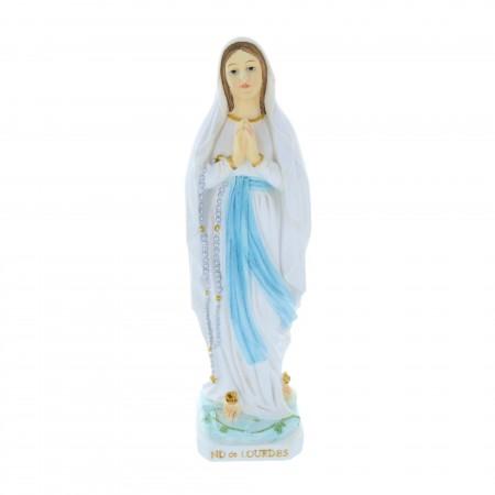 Statue Vierge Marie en résine colorée 30 cm