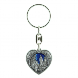Heart-shaped key-ring and Lourdes Apparition
