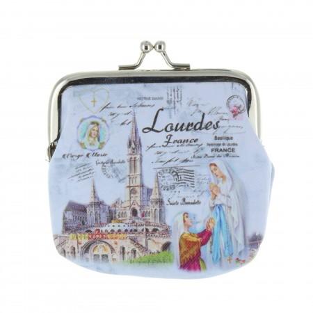 Porte monnaie bourse fermoir rétro et Apparition de Lourdes