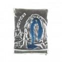 Lourdes Apparition Parchment-shaped pin badge